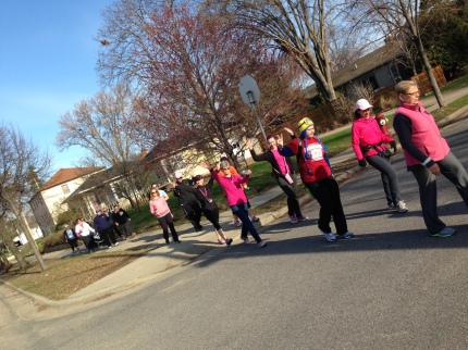 Komen_3Day_Twin Cities 16 Week Training walk kick off_group walking