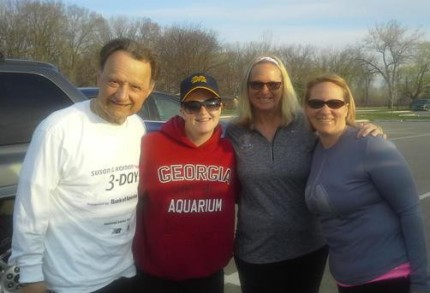 susan g. komen 3-Day breast cancer walk blog training meet-up 2015 may michigan