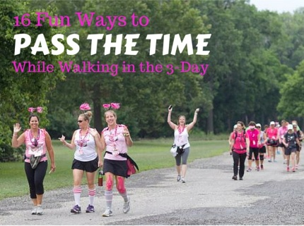 susan g. komen 3-Day breast cancer walk blog 60 miles ways to pass the time