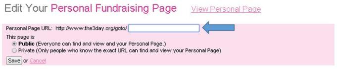 susan g. komen 3-day breast cancer walk blog fundraising tools personal page URL web address