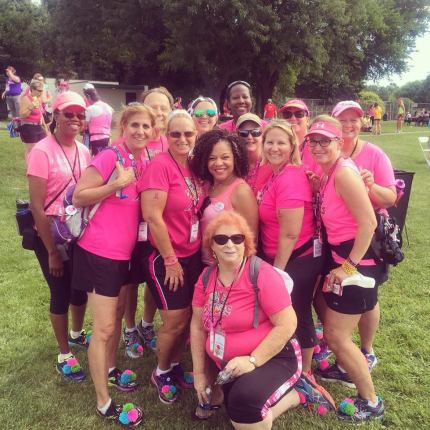 Members of the BC Babes with Dr. Sheri Prentiss, National Spokesperson for the Susan G. Komen 3-Day