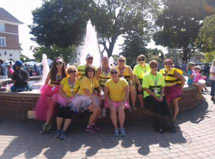 Some members of the BooBees at Michigan Pit Stop 1 at the 2014 3-Day