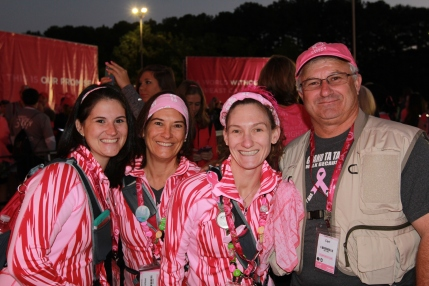 4 of the 5 Grand Ta Ta's team members at Opening Ceremony in Atlanta