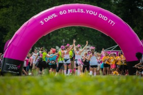 Sunday, August 9, 2015: Participants walk the 60 mile Susan G. Komen 3day event that goes from Novi to Dearborn, MI.