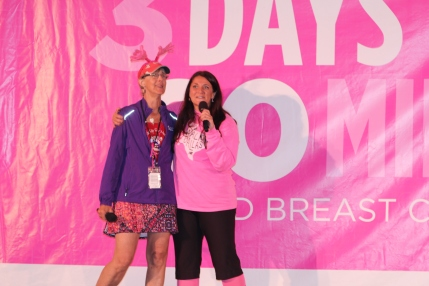susan g komen 3-day breast cancer 60 miles walk blog san diego team hands up for hooters sally dunbar