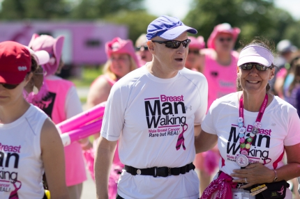 Susan G. Komen walkers gear up and take on Day 3 for breast cancer awareness.