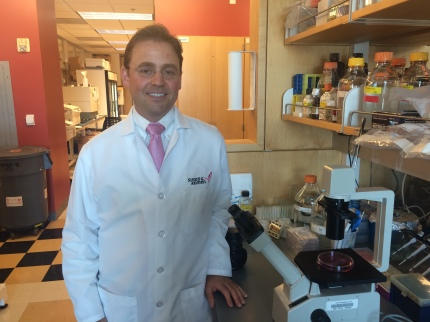 Dr. Jay Desgrosellier in his lab