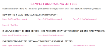 Sample Fundraising Letters