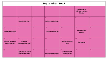 September Fundraising Calendar 2