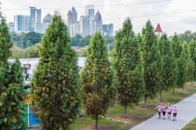 Day 1 of the Susan G. Komen 3day walk through Atlanta, Georgia on October 13, 2017.